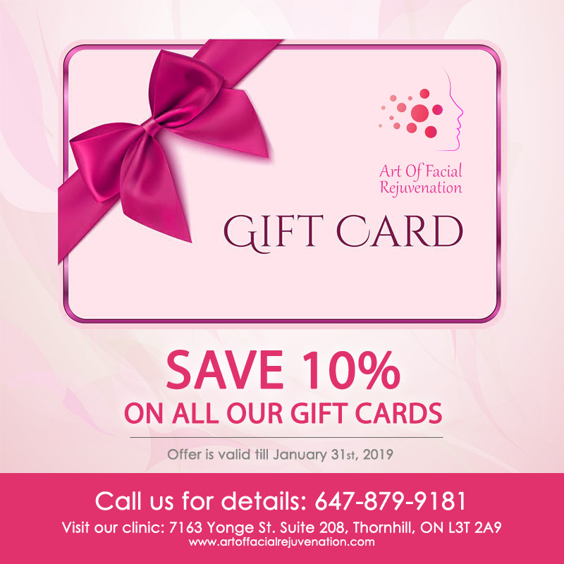 Art Of Facial Instagram Gift Card Promotion 10 Percent