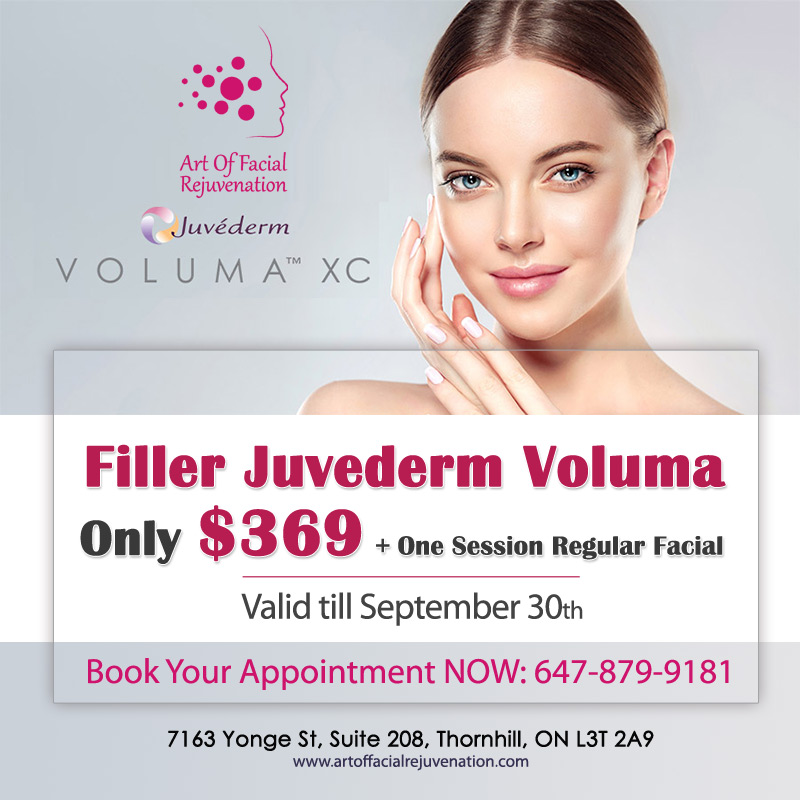 Art Of Facial Promotion Filler Juvederm Voluma Till Sept 30 2019