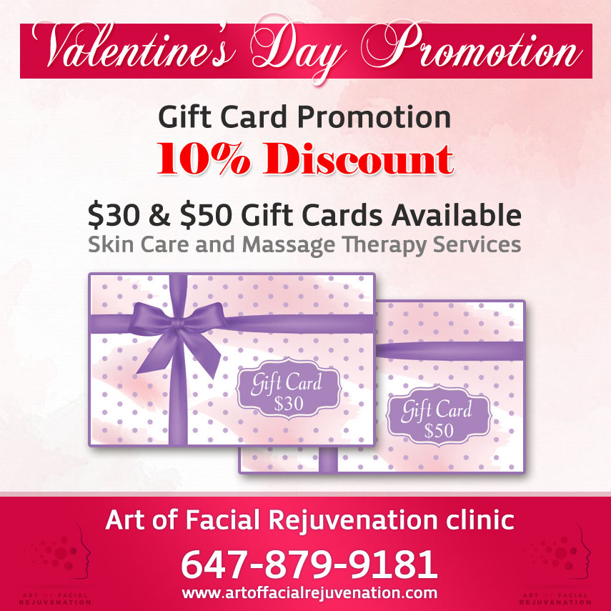 Valentine S Day Promotion Gift Cards Art Of Facial Rejuvenation