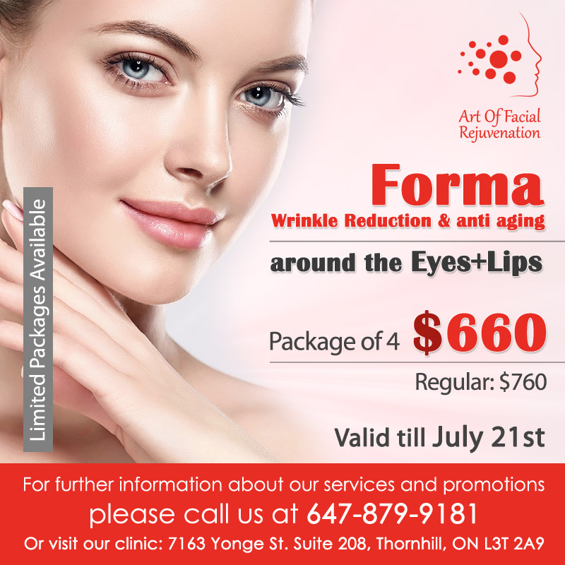 Art Of Facial Rejuvenation Promotion Forma Wrinkle July 8 2019