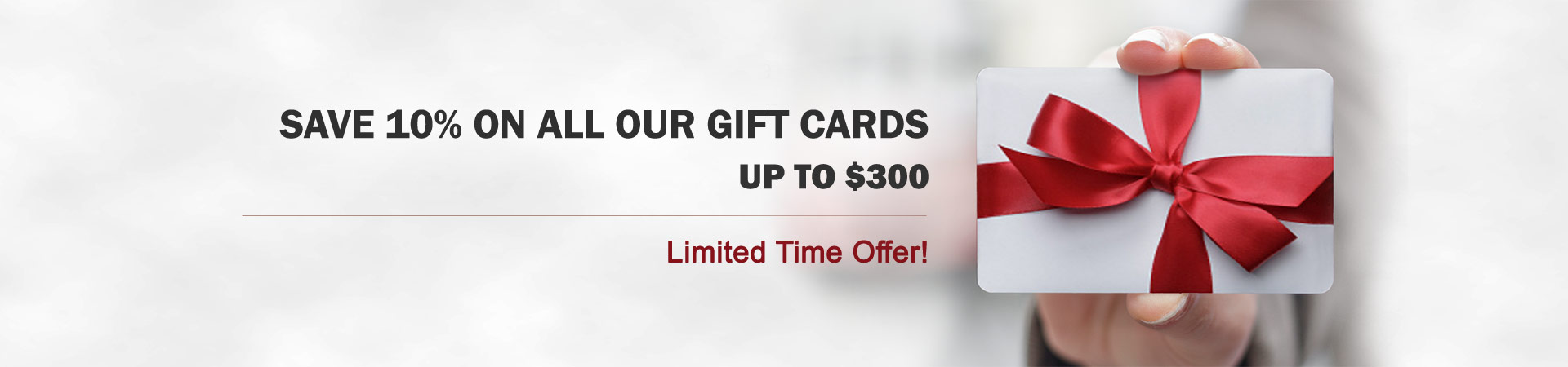 Gif Card Promotion 10 Percent Discount