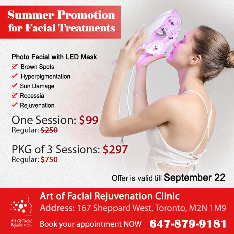 Photo Facial Led Mask Summer 2018 Promotion