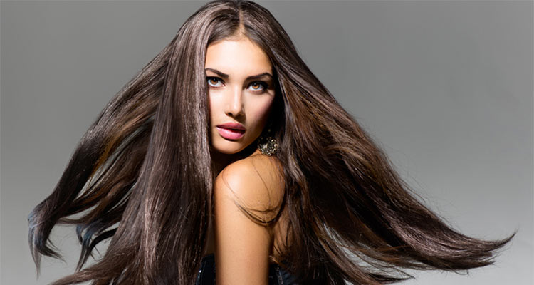 woman healthy hair