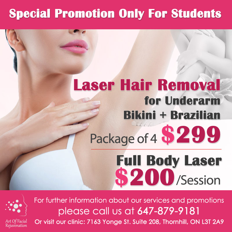 Art Of Facial Rejuvenation Students Laser Hair Removal Promotions