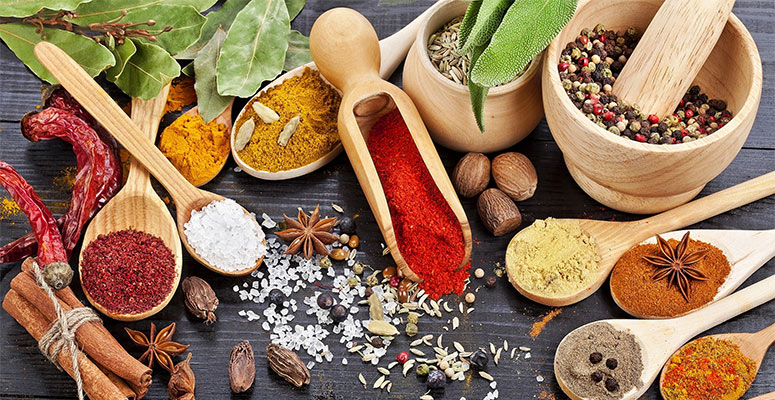delicious herbs and spices